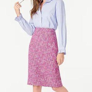 J.CREW No 2 Pencil Skirt Autumn Tweed Knee Length